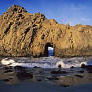 Sea Arch At Pfeiffer Beach Big Sur Poster by Tim Fitzharris