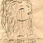 Sea Woman 2 Poster by Georgeta  Blanaru
