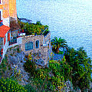Seaside Villa Amalfi Poster by Bill Cannon