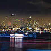 Seattle Skyline Firework Panorama Poster by Dmitry Grekov