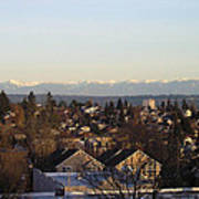 Seattle Suburb In Winter Poster by Silvie Kendall