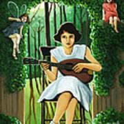 Secret Garden Fantasy Fairy Poster by Linda Apple
