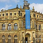 Semper Opera House Dresden Poster by Christine Till