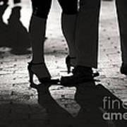 Shadows Of Tango Poster by Leslie Leda