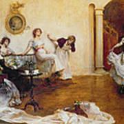 Silks And Satins Poster by Albert Chevallier Tayler