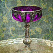 Silver Chalice With Jewels Poster by Jill Battaglia