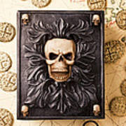 Skull Box With Skeleton Key Poster by Garry Gay