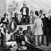 Slavery Auction, In The United States Poster by Everett