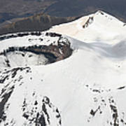 Snow-covered Ngauruhoe Cone, Mount Poster by Richard Roscoe