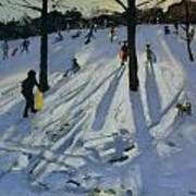Snow Rykneld Park Derby Poster by Andrew Macara