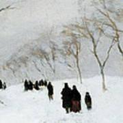 Snow Storm Poster by Anton Mauve