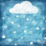 Snow Winter Poster by Setsiri Silapasuwanchai