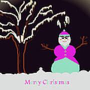 Snowlady Poster by Jan Steadman-Jackson