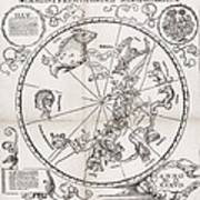 Southern Hemisphere Star Chart, 1537 Poster by Middle Temple Library