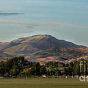 Sport Complex And The Butte Poster by Robert Bales