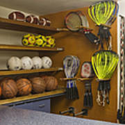 Sports Equipment Display Poster by Andersen Ross