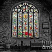 St Dyfnog Window Poster by Adrian Evans