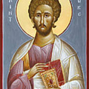St Luke The Evangelist Poster by Julia Bridget Hayes