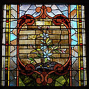 Stained Glass Lc 18 Poster by Thomas Woolworth