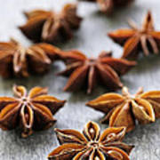 Star Anise Fruit And Seeds Poster by Elena Elisseeva