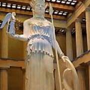 Statue Of Athena And Nike Poster by Linda Phelps