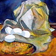 Still Life With Eggs Poster by Mindy Newman