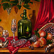 Still Life With Snails Poster by Roxana Paul