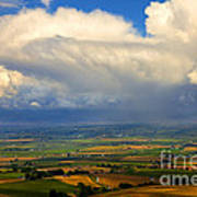 Storm Over The Kittitas Valley Poster by Mike  Dawson