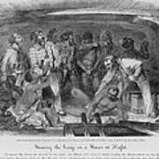 Stowing African Captives In A Slave Poster by Everett