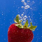 Strawberry Soda Dunk 5 Poster by John Brueske