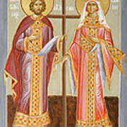 Sts Constantine And Helen Poster by Julia Bridget Hayes