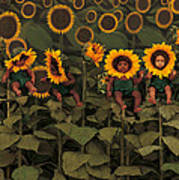 Sunflowers Poster by Anne Geddes
