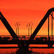 Sunrise Walnut Street Bridge Poster by Tom and Pat Cory
