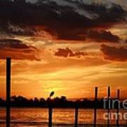 Sunset 1-1-12 Poster by Lynda Dawson-Youngclaus