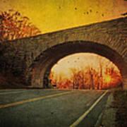 Sunset On Blue Ridge Parkway Poster by Kathy Jennings