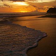 Sunset Surf Playa Hermosa Costa Rica Poster by Michelle Wiarda