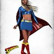 Super Girl Poster by Frederico Borges