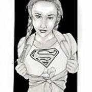 Supergirl Poster by Nathan  Miller