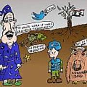 Syria Is Mordor Poster by Yasha Harari