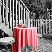 Table And Chairs Poster by Frank Nicolato