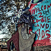 Taz Welcomes You To Zombie Land Poster by Pixel Perfect by Michael Moore