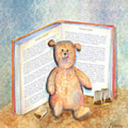 Tea Bag Teddy Poster by Arline Wagner
