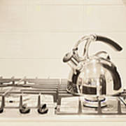 Tea Kettle On Stove Poster by Andersen Ross