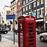 Telephone Box In London Poster by Elena Elisseeva