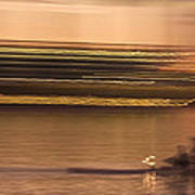 Tempe Town Lake Rowers Abstract Poster by Dave Dilli