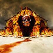 Temple Of Death Poster by Jaroslaw Grudzinski