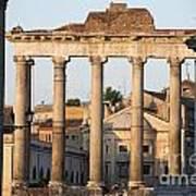 Temple Of Saturn In The Forum Romanum. Rome Poster by Bernard Jaubert