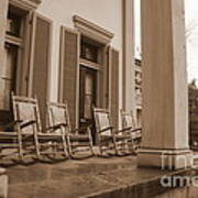 Tennessee Plantation Porch Poster by Carol Groenen