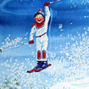 The Aerial Skier 15 Poster by Hanne Lore Koehler