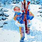 The Aerial Skier - 3 Poster by Hanne Lore Koehler